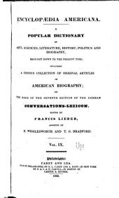 Encyclopædia americana: Volume 9