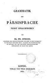 Grammatik der Pârsisprache nebst Sprachproben