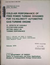 Cold-air Performance of Free Power Turbine Designed for 112-kilowatt Automotive Gas-turbine Engine