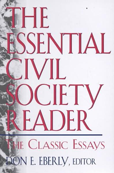 The Essential Civil Society Reader