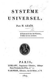 Systême universel. (Bases du systême.).