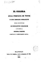 Il colera alla portata di tutti e suo metodo curativo del dottor Giuseppe Bruno
