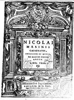 Nicolai Masinii     De gelidi potus abusu  Libri tres PDF