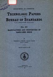 Technologic Papers of the Bureau of Standards: Issues 85-108