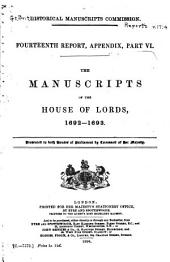 The Manuscripts of the House of Lords: 1699-1702 (H.L. 7)