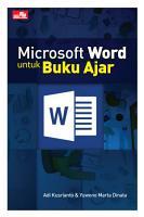 Microsoft Word untuk Buku Ajar PDF