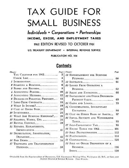 Tax Guide for Small Business PDF