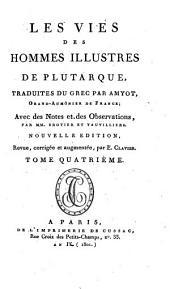 Oeuvres de Plutarque: Les vies des hommes illustres de Plutarque