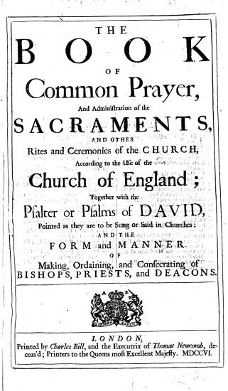 The Book of Common Prayer  Etc  B L  PDF