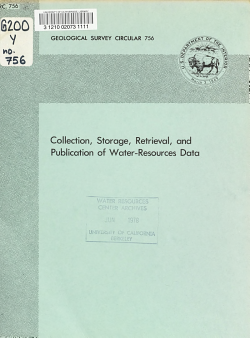 Collection  Storage  Retrieval  and Publication of Water resources Data PDF