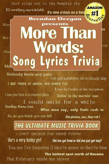 More Than Words  Song Lyrics Trivia PDF