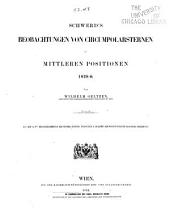 Schwerd's Beobachtungen von Circumpolarsternen in mittleren Positionen 1828.0
