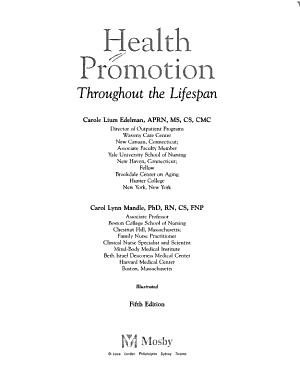Health Promotion Throughout the Lifespan PDF