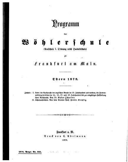 Ueber Die Aussprache Der Englischen Vocale Im 13  Jahrhundert und Vordem PDF