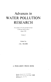 Advances in Water Polution Research