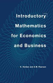 Introductory Mathematics for Economics and Business PDF