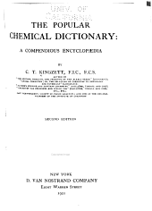 The Popular Chemical Dictionary: A Compendious Encyclopædia