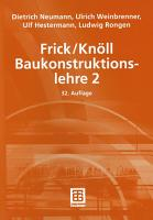 Frick Kn  ll Baukonstruktionslehre 2 PDF