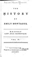 The History of Emily Montague PDF
