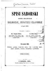 Spisi saborski Sabora Kraljevinah Dalmacije, Hrvatske i Slavonije od god. 1861: Svesci 3-4
