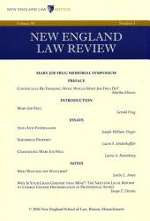 New England Law Review: Volume 50, Number 3 - Spring 2016