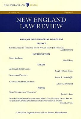 New England Law Review  Volume 50  Number 3   Spring 2016 PDF