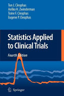 Statistics Applied to Clinical Trials