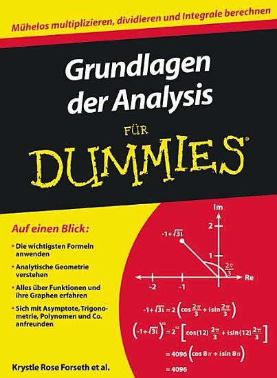 Grundlagen der Analysis f  r Dummies PDF