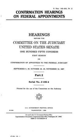 Confirmation Hearings on Federal Appointments PDF