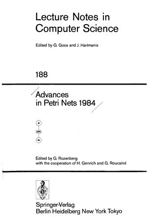 Advances in Petri Nets 1984