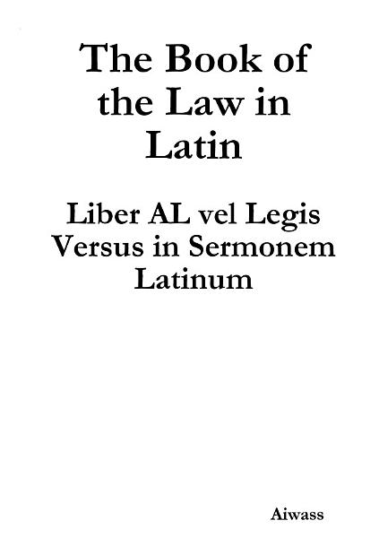 Download The Book of the Law in Latin Book