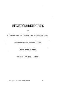 Sitzungsberichte der Philosophisch Historischen Klasse der kaiserlichen Akademie der Wissenschaften PDF