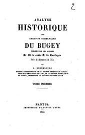 Analyse historique des archives communales du Bugey