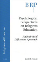 Psychological Perspectives on Religious Education PDF