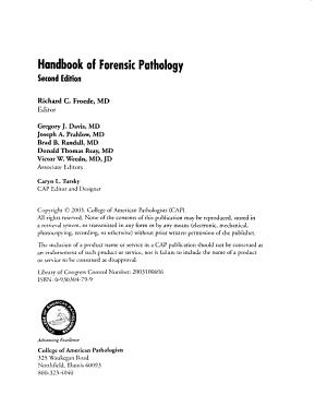 Handbook of Forensic Pathology