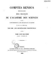 Comptes rendus hebdomadaires des s  ances de l Acad  mie des sciences PDF