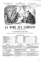La dame aux camélias: Pièce en cinq actes, mêlée de chant