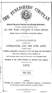The Publishers  Circular and General Record of British and Foreign Literature PDF