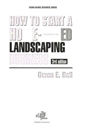 How to Start a Home Based Landscaping Business PDF