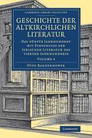 Geschichte der altkirchlichen Literatur PDF