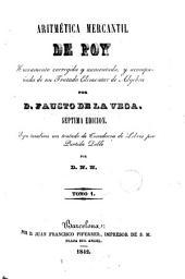 Aritmética mercantil de Poy