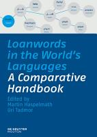Loanwords in the World s Languages PDF