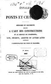 Annales des ponts et chaussées: 1867, 2