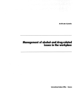 Management of Alcohol and Drug-Related Issues in the Workplace