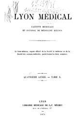 Lyon médical: Volume10,Partie2