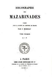 Bibliographie Des Mazarinades: Volume1