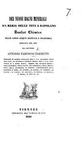 Dei nuovi bagni minerali di S. Maria delle Nevi a Rapolano, etc
