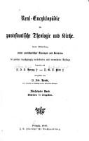 Real encyklop  die f  r protestantische theologie und kirche PDF