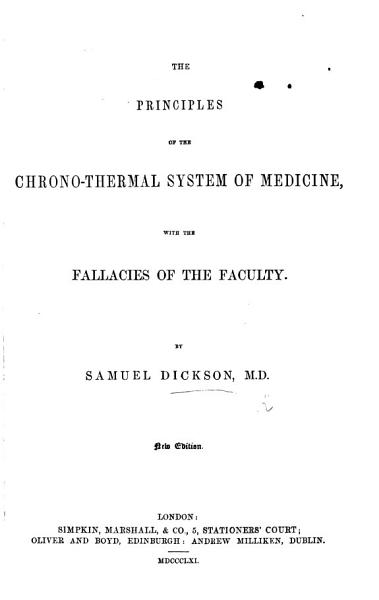 Fallacies of the Faculty  Being the Spirit of the Chronothermal System  In a Series of Lectures PDF