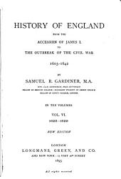 History of England from the Accession of James I. to the Outbreak of the Civil War, 1603-1642: 1625-1629